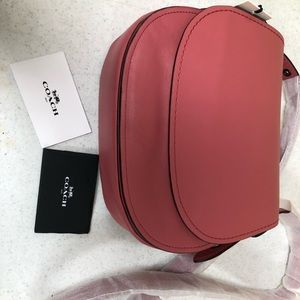 Coach coral/pink crossbody